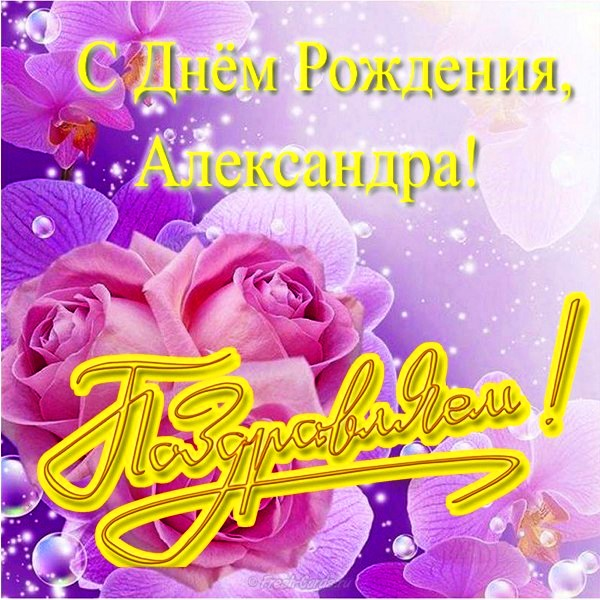 Картинки, открытка с днем рождения по имени александра