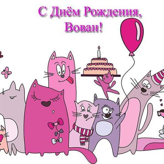 С днем рождения поздравления вовику