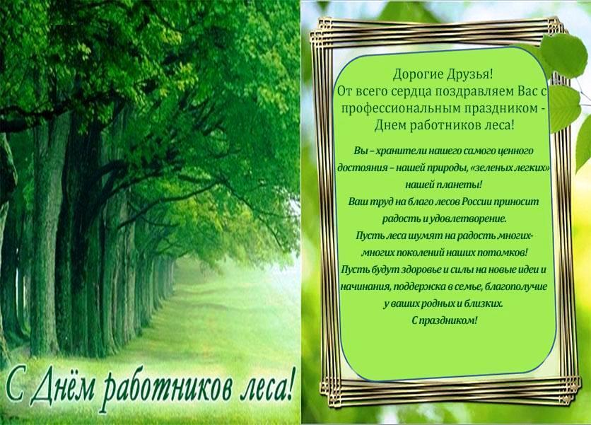 С днем лесного хозяйства поздравления своими словами