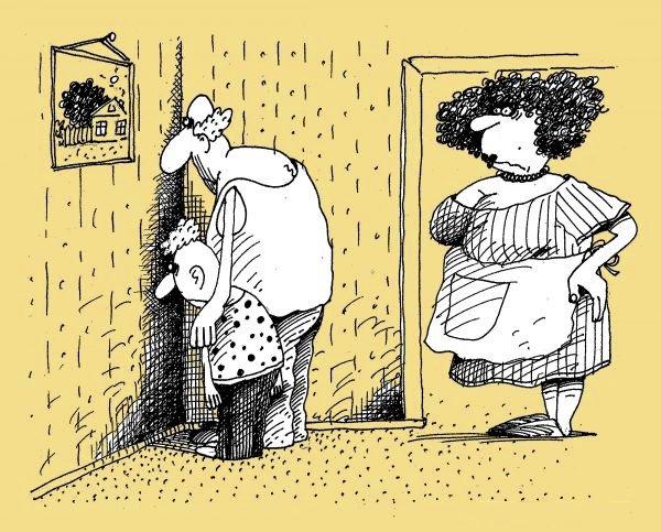 Прикольные рисунки муж жена