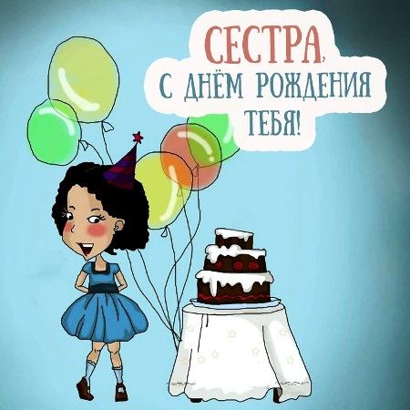Веселые поздравления сестре с днем рождения