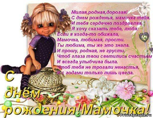 Поздравления с днем рождения мамы картинки