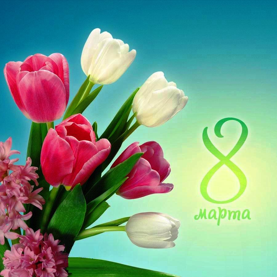 Открытки и видео марта поздравление с 8 марта, тюльпанами