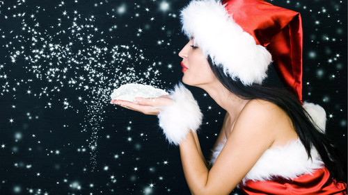 Воздушный новогодний поцелуй из звёзд 1 920px × 1 080px
