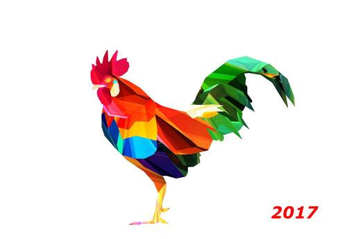 Разноцветный петух 2017 обои новый год 2 000px × 1 374px
