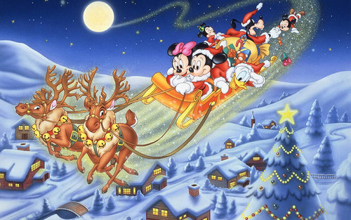 Герои Диснея, Рождество, обои 1 600px × 1 000px