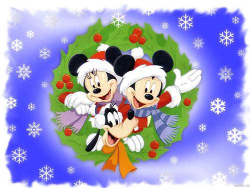 Новогодние обои 1 600px × 1 200px, Дисней, Микки Маус