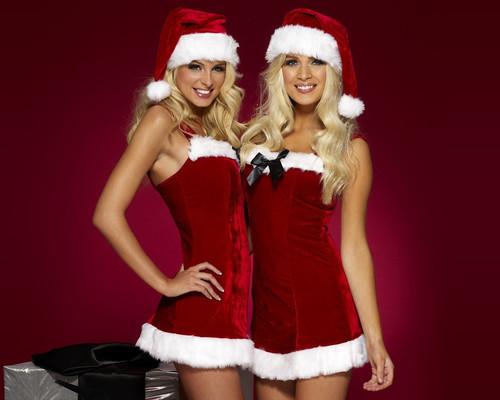 Девушки близняшки, новый год обои 1 280px × 1 024px