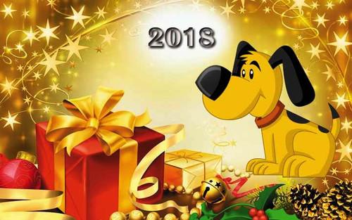 Открытка Желтая собака 720px × 450px