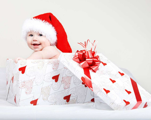 Новый год, подарок, младенец, обои 1 280px × 1 024px
