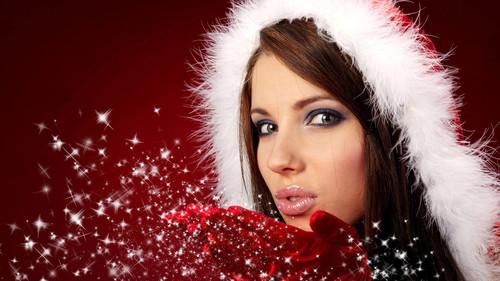 Девушка, Новый год, сказка, обоии1 920px × 1 080px