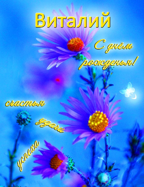 С днем рождения поздравления виталия